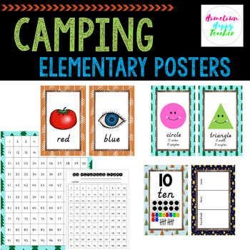 Camping Theme Number, Color, Shape Posters