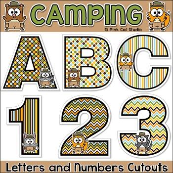 Camping Theme Alphabet Cutouts