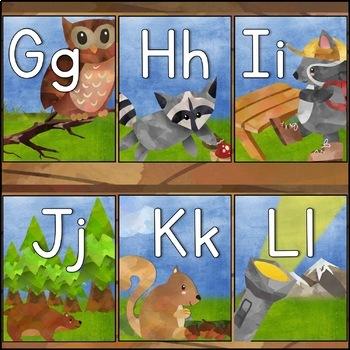 Camping Theme Alphabet Display
