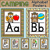 Camping Theme Alphabet Posters - Forest Animals Classroom Decor