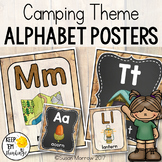 Camping Theme Alphabet Posters Primary Font - Camping Them