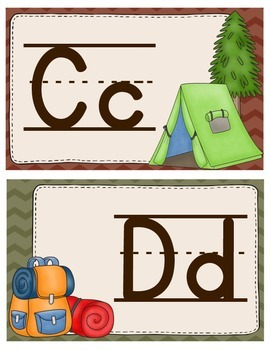 Camping Theme Alphabet Wall