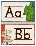 Camping Theme Alphabet Wall