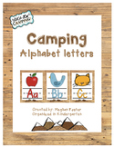 Camping Theme Alphabet Wall Posters