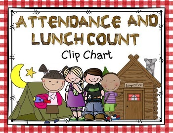 Camping Theme Attendance and Lunch Count