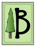 Camping Theme Backwoods Words Word Wall Banner & Alphabet Letters
