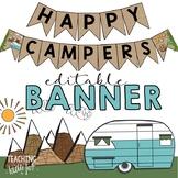Camping Theme Banner Editable