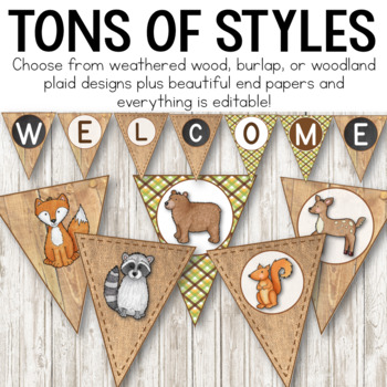 Camping Theme Banners:  Camping Theme Classroom Decor