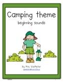 Camping Theme- Beginning Sounds (freebie)