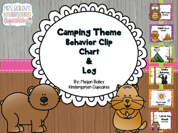 Camping Theme Behavior Chart and Log