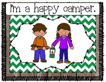Camping Theme Behavior Clip Chart
