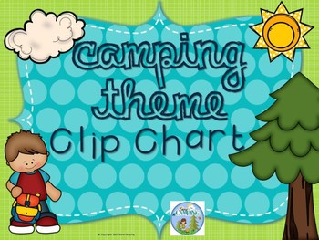 Camping Theme Behavior Clip Chart