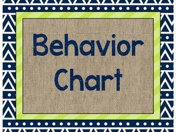 Camping Theme Behavioral Chart