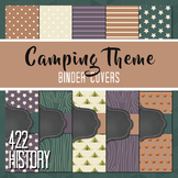 Camping Theme Binder Covers and Spines