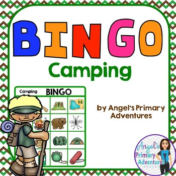 Camping Theme Bingo Game