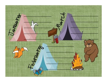 Camping Theme Birthday Poster