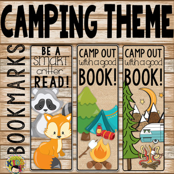 Camping Theme Bookmarks