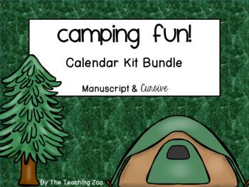Camping Theme Calendar Kit Bundle