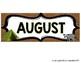 Camping Theme Calendar Months FREEBIE
