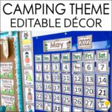 Camping Theme Calendar Set - Editable! Camping Theme Class