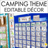 Camping Theme Calendar Set - Editable! Camping Theme Class