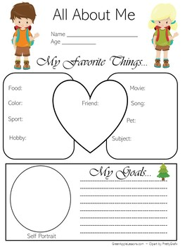 Camping Theme Activity | Camp Theme All About Me