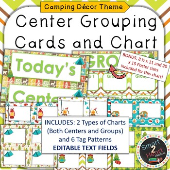 Camping Theme Center Grouping Cards and Chart