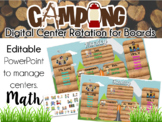 Camping Theme Center Rotation Board (Center Rotation PowerPoint) Math