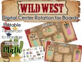 Wild West Theme Center Rotation Board (Center Rotation PowerPoint) Math