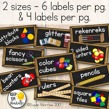 Camping Theme Chalkboard Supply Labels: Camping Theme Classroom Decor