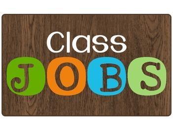 Camping Theme Class Jobs Board