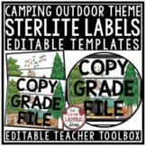 Camping Theme Classroom Decor- Mailbox Labels 3 Drawer Sterilite Labels Editable