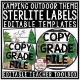 Camping Theme Classroom Decor Editable Mailbox 3 Sterilite Drawer Bin Labels