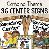 Camping Theme Classroom Center Signs: Camping Theme Classr
