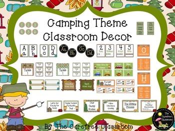 Classroom Decor: Camping Theme