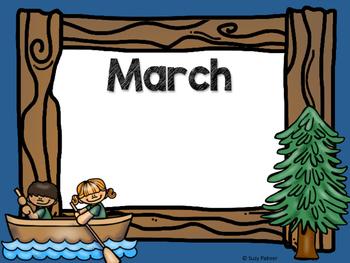 Camping Theme Classroom Decor: Birthday Chart