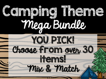 Camping Theme Classroom Decor: Build Your Own Mega Bundle