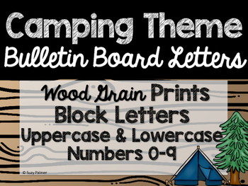 Camping Theme Classroom Decor: Bulletin Board Block Letters