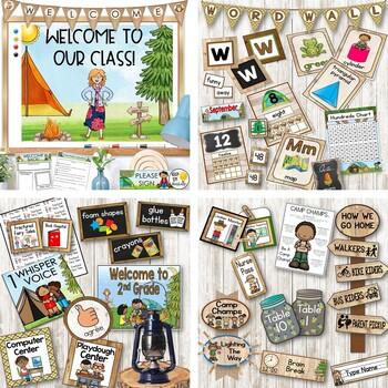 Camping Theme Classroom Decor Bundle : Classroom Themes Decor Bundle
