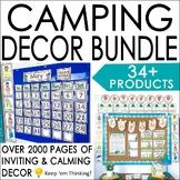 Camping Theme Classroom Decor Bundle: Editable Camping Cla