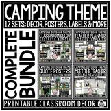 Camping Theme Classroom Decor Bundle: Meet the Teacher, Ne