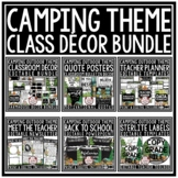 Camping Theme Classroom Decor Newsletter Template Editable