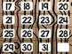 Camping Theme Classroom Decor: Calendar Numbers