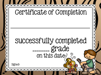 Camping Theme Classroom Decor: Certificates & Awards