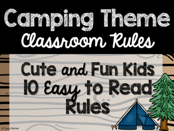 Camping Theme Classroom Decor: Classroom Rules