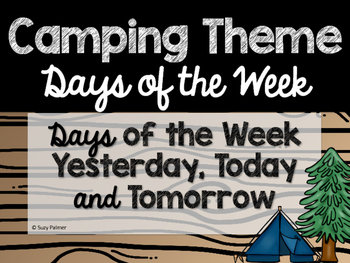 Camping Theme Classroom Decor: Days of the Week