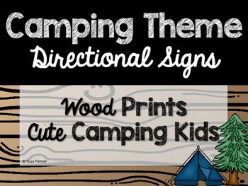 Camping Theme Classroom Decor: Directional Signs