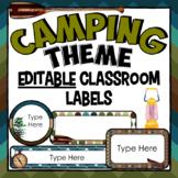Camping Theme Classroom Decor: Editable Camping Classroom Bulletin Board Labels