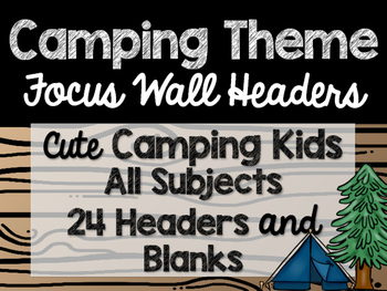 Camping Theme Classroom Decor: Focus Wall Headers