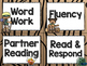 Camping Theme Classroom Decor: Literacy Center Labels